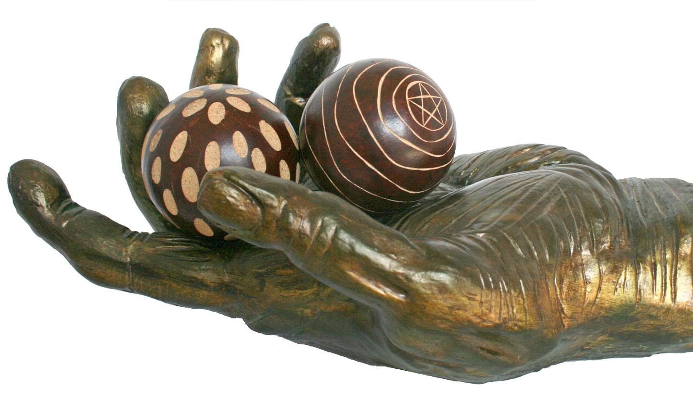El Mago (Gres esmaltado en bronce)