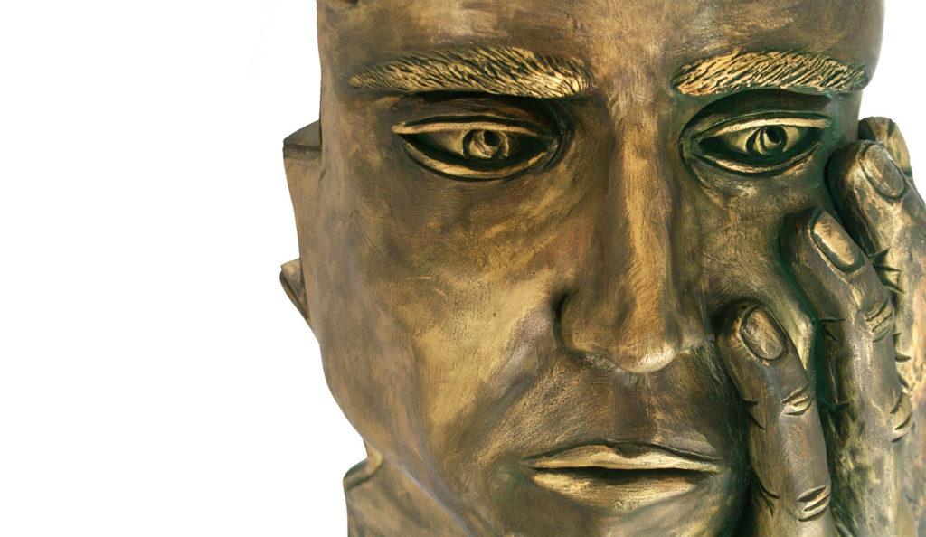 Pensante (Gres esmaltado en bronce)