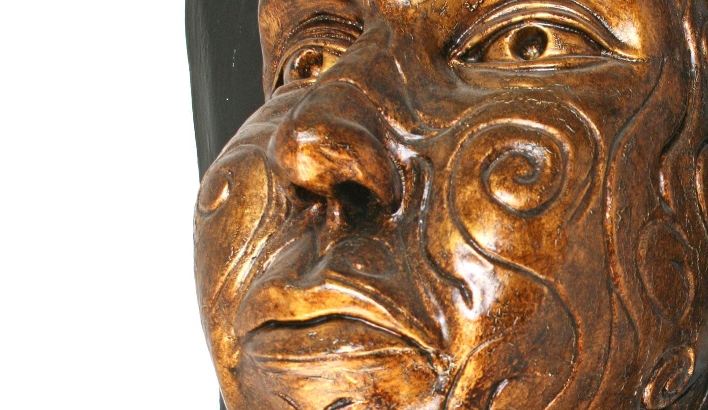 Sueño de Atlantis (Chamota esmaltada en bronce)