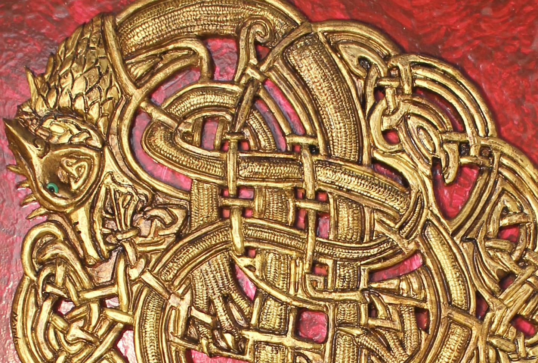 Dragón III (Gres y madera)